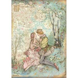 Rice Paper - Decoupage - Stamperia - 1 x A4 Size Sheet - Sleeping Beauty Lovers