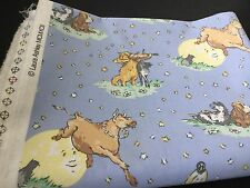 Laura Ashley Hey Diddle Diddle Cat Fiddle Baby Nursery Fabric Piece 2m X 1.5m