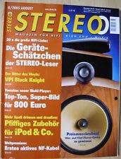 Stereo 8/05 B & W 803 S /  803 D, Lua Sinfonia, VPI Knight, Gamut D200, Piega P5