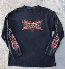 2004 Godsmack Faceless Tour Shirt Long Sleeve Flames Men's Size Medium