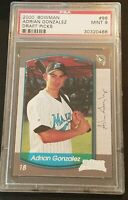 2000 BOWMAN CHROME DRAFT PICKS/PROSPECTS #86 ADRIAN GONZALEZ PSA 9 MINT RC MARLI