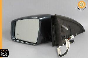 11-13 Mercedes W251 R350 Left Side Rear View Door Mirror w/Blind Assist OEM