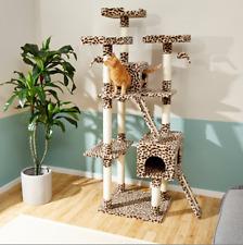 Frisco 72-in Faux Fur Cat Tree & Condo New + Freeship