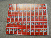 Vintage Sheet of 50 Charity Stamps Protest Oppression of Soviet Jewry