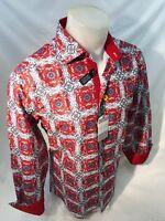 Mens SUSLO COUTURE BRIGHT FLORAL PAISLEY Design Shirt SLIM FIT MULTI COLOR 60210