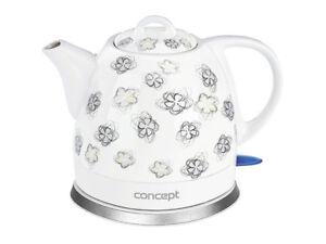 Ceramic Electric Kettle Beautiful Concept Retreo Design Cordless 1l Jug UK Stock