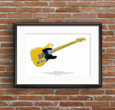 Keith Richards' Fender Telecaster Micawber guitar ART POSTER A2 size