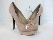 Rachel Roy Size 7.5 M Flenaya Dark Pink Suede Heels New Womens Shoes