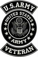US Army Veteran Patches Set for veterans Bikers Motorcycle Jacket or Vest New