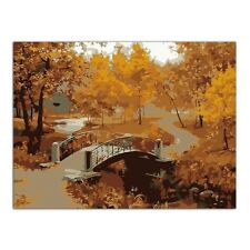 Bridge Tree DIY Digital Oil Painting Kit Paint by Numbers on Canvas Home Decor