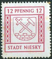 Deutsche Lokalausgabe NIESKY Nr. 4 mit Stockflecken