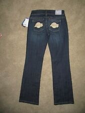 NWT Touch Denim Blue Jeans - nba for her - Los Angeles LAKERS - Womens Size 25