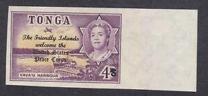 Tonga Toga - 1967 Peace Corps - 4s on 4d Violet - SG219 - Mint Hinged (E22D)