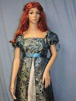 Regency Gown Edwardian, Jane Austen, empire waist dress with center panel