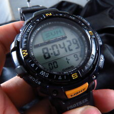 PRG-40 CASIO PROTREK TRIPLE SENSOR COMPASS BAROMETER LCD QUARTZ MEN WATCH