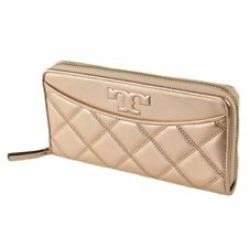 Tory Burch Savannah Zip CONTINENTAL Wallet in Rose Gold