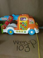 VTech Pull and Learn Car Carrier Go Go Smart Wheels Lights & Sounds Works