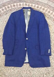 SANTINELLI - Blue - Herringbone - Linen - Smart Casual - Jacket - 42""