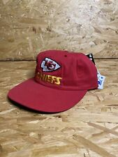 Vintage 90s / NWT / Starter Kansas City Chiefs Snapback Cap / Red Hat