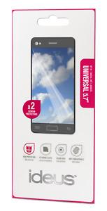 """UNIVERSAL 5.7"""" x2 Films Protecteurs d'écran souples 5 couches + lingette nettoy"""