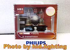 GENUINE Philips X-treme xtreme Vision 9005 HB3 +100% headlight bulb light XV