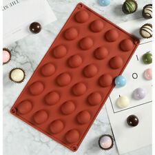 24 Half Ball Sphere Silicone Mould Chocolate Fondant Jelly Ice Cube Mold Wax DIY