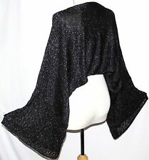 S M Gypsy Tribal Boho Gothic Glittering Evening Belly Dancing Shrug Bolero Top