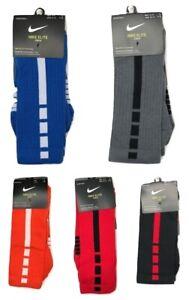 Nike Men's Elite DRI-FIT Basketball Cushioned Crew Socks Multiple Colors & Sizes