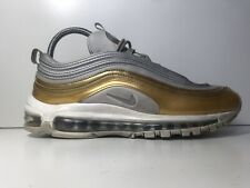 NIKE AIR MAX 97 SILVER GOLD TRAINERS SIZE 7 UK