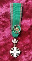 Croce da Cavaliere Della Repubblica Italiana -  Medaglia Mignon + rosetta -