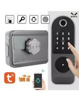 Smart Fingerprint Electronic Door Lock Security Password ID Card Keys Anti-theft