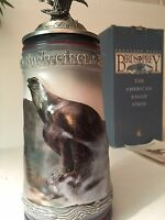 "Stein ANHEUSER Budweiser BIRDS OF PREY "" BALD EAGLE"" 1991 CS164 NIB w/ COA"