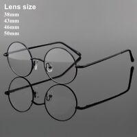 Vintage Round Eyeglass Frames Spectacles Rx Metal Retro Glasses Mens Womens H00