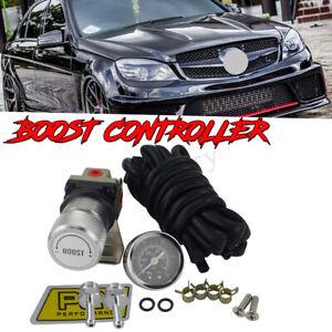 Universal Turbo Manual Boost Controller with Gauge 1-150 PSI SR20DET SR Silver