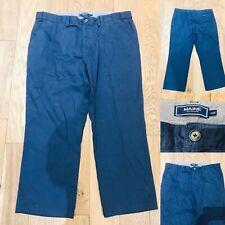 Mens MAINE NEW ENGLAND Blue Cotton Trousers 40S W40 L30 Fly/Pockets DEBENHAMS