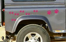28 HOT Pink PAW PRINT STICKERS Car Wall Stickers Decals Graphics Cat Dog