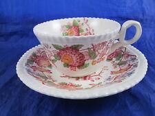 Copeland Spode Spode's Aster Tea Cup & Saucer Floral Pink Flower