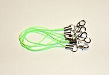 5 Bänder/Band für Anhänger - neon-hellgrün - Handy/Schmuck/Charm/USB-Stick *neu*