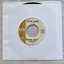 "45 RPM DUANE EDDY ""PETER GUNN"" + ""NAVAJO TRAIL""  Jamie Records VG+ 7 inch vinyl"