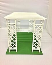 Glossy Miniature Dollhouse Furniture Outdoor Garden Trellis Prop Kit Wooden