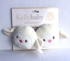 Kelly Baby Car Seat Safety Belt Cover Auto Seat Belt Kids Plush Lamb Pads 2-Pack