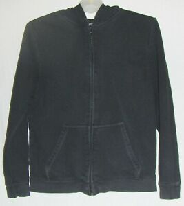 JOE BOXER black HOODIE JACKET XL 14 16 boy ZIPPER SWEATSHIRT LONG SLEEVE T-SHIRT