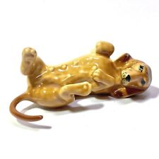 MINIATURE LYING DACHSHUND STATUE CERAMIC ANIMAL FIGURINE DOG COLLECTIBLES DECOR