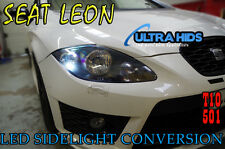 Seat Leon HIELO LED blanco CANBUS 501 Lateral Luz Bombillas 8 SMD xenón MK2