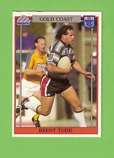 1993 RUGBY  LEAGUE CARD #136  BRENT TODD , GOLD COAST
