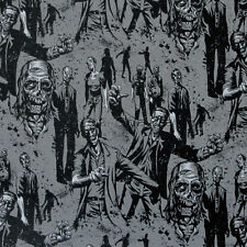 """ALEXANDER HENRY """"ZOMBIE!"""" 7945B Charcoal by the 1/2 yard"""