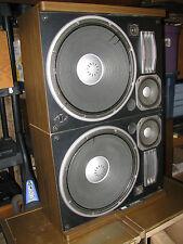 "RARE VINTAGE SANSUI SP-X11000 SPEAKERS - KABUKI KINGS! 2 X 17"" WOOFERS"