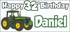 Tractor 32nd Birthday Banner x 2 - Party Decorations - Personalised ANY NAME