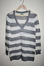 United Colors Of  Benetton Woman's Knitted Sweater Tunic Acrylic Soft Size L