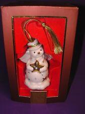LENOX CHRISTMAS ORNAMENT RAZZLE DAZZLE SNOWMAN ANGEL NEW IN ORIGINAL BOX